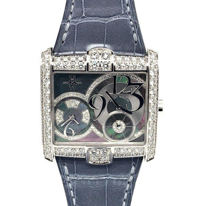 Harry Winston Avenue Squared A2 18K White Gold & Diamonds Ref. 350/LQTZW
