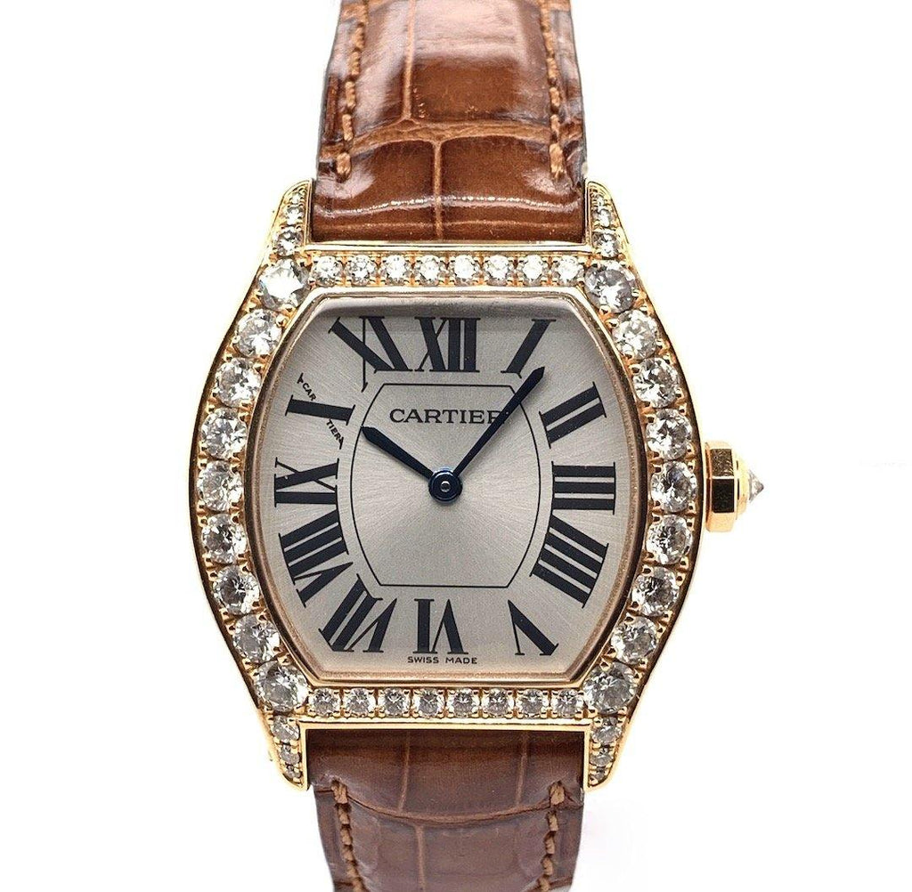 Cartier Tortue 18K Rose Gold & Diamonds