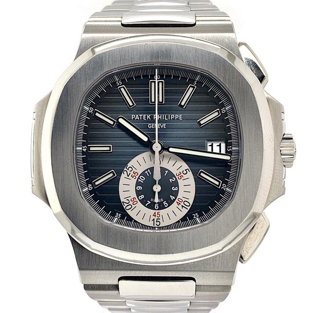Patek Philippe Nautilus Chronograph Stainless Steel Blue-Black Dial Ref. 5980/1A-001