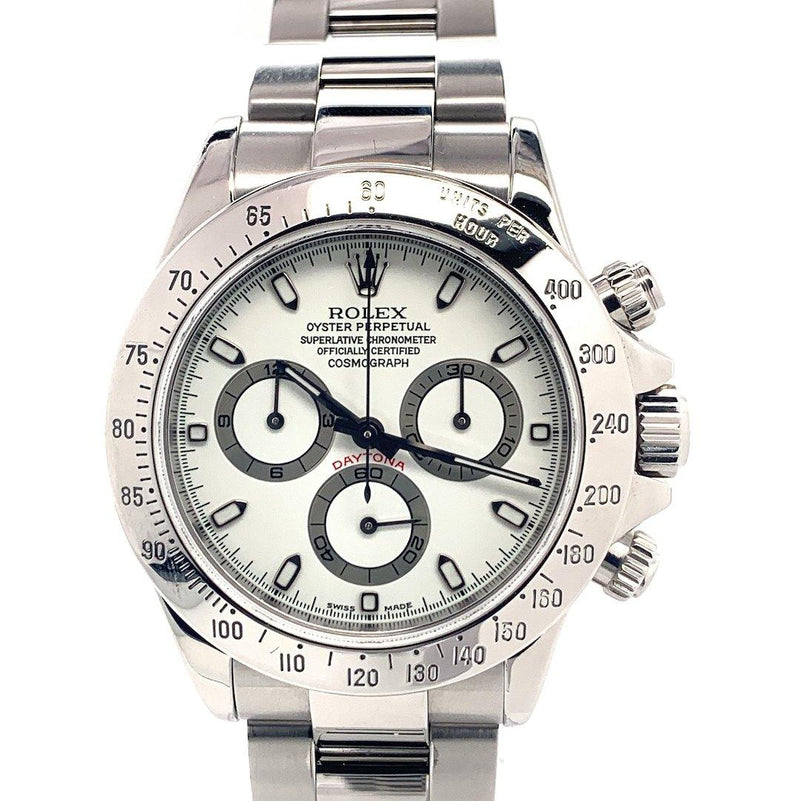 Rolex Oyster Perpetual Cosmograph Daytona White Dial Stainless Steel Ref. 116520