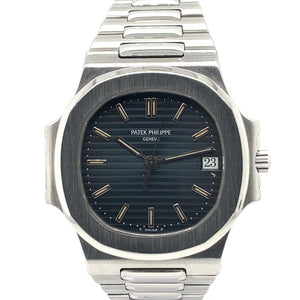 Patek Philippe Nautilus Stainless Steel Striated/Guilloche Black Dial 3800/1A