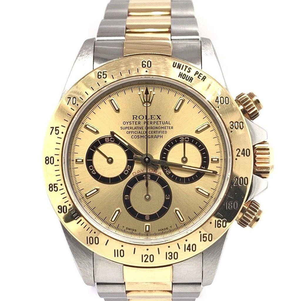 "Rolex Oyster Perpetual Cosmograph Daytona Two Tone Zenith Movement Champagne Dial ""New Old Stock"" Ref. 16523"