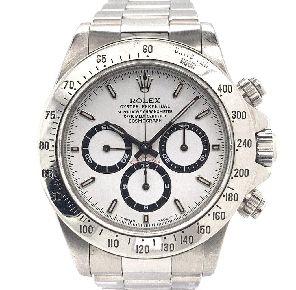 Rolex Oyster Perpetual Cosmograph Daytona Stainless Steel Zenith El Primero White Dial Ref. 16520
