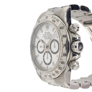 Rolex Oyster Perpetual Cosmograph Daytona Stainless Steel Zenith Movement White Dial Ref. 16520