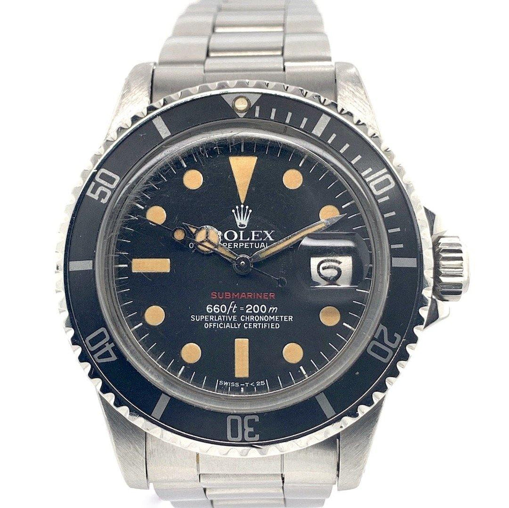 "Rolex Vintage Red Submariner Stainless Steel Ref. 1680 ""MK V"""