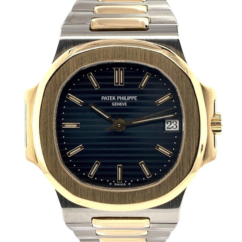 Patek Philippe Nautilus Two Tone Striated/Guilloché Black Dial Ref. 3800/1