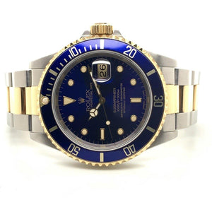 Rolex Submariner Date Two Tone Blue Dial Ref. 16613