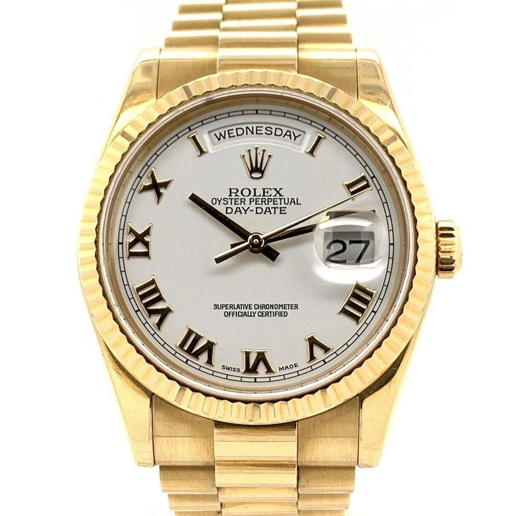Rolex Day-Date President White Dial 18K Yellow Gold Ref. 18283