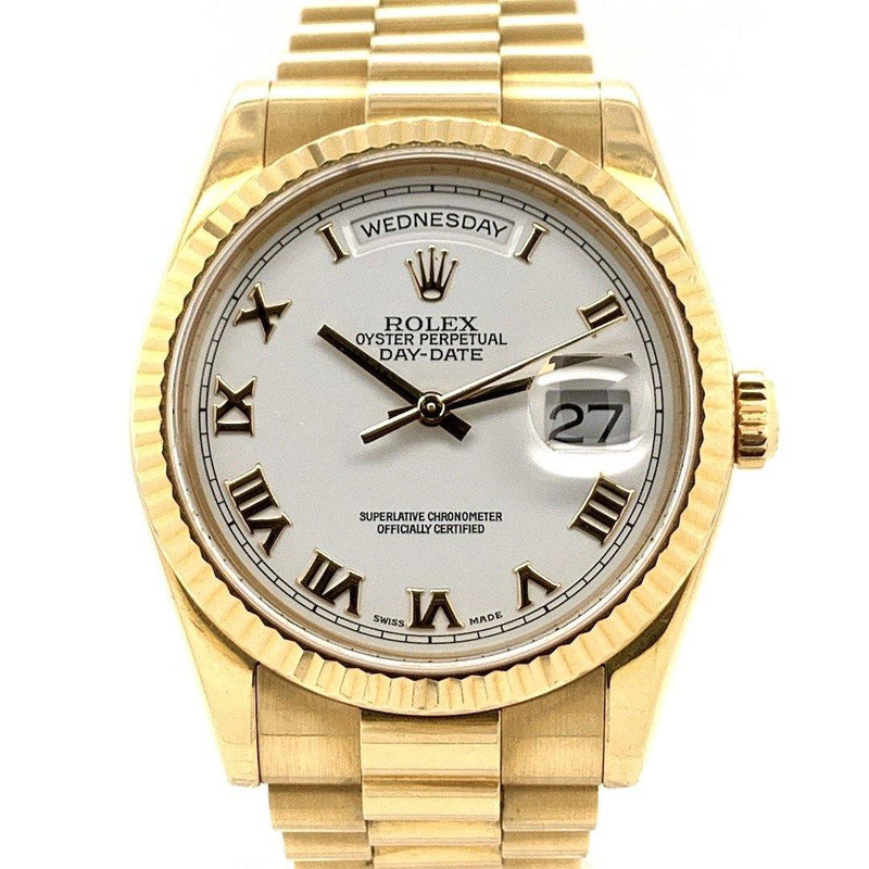 Rolex Day-Date President White Dial 18K Yellow Gold Ref. 118238
