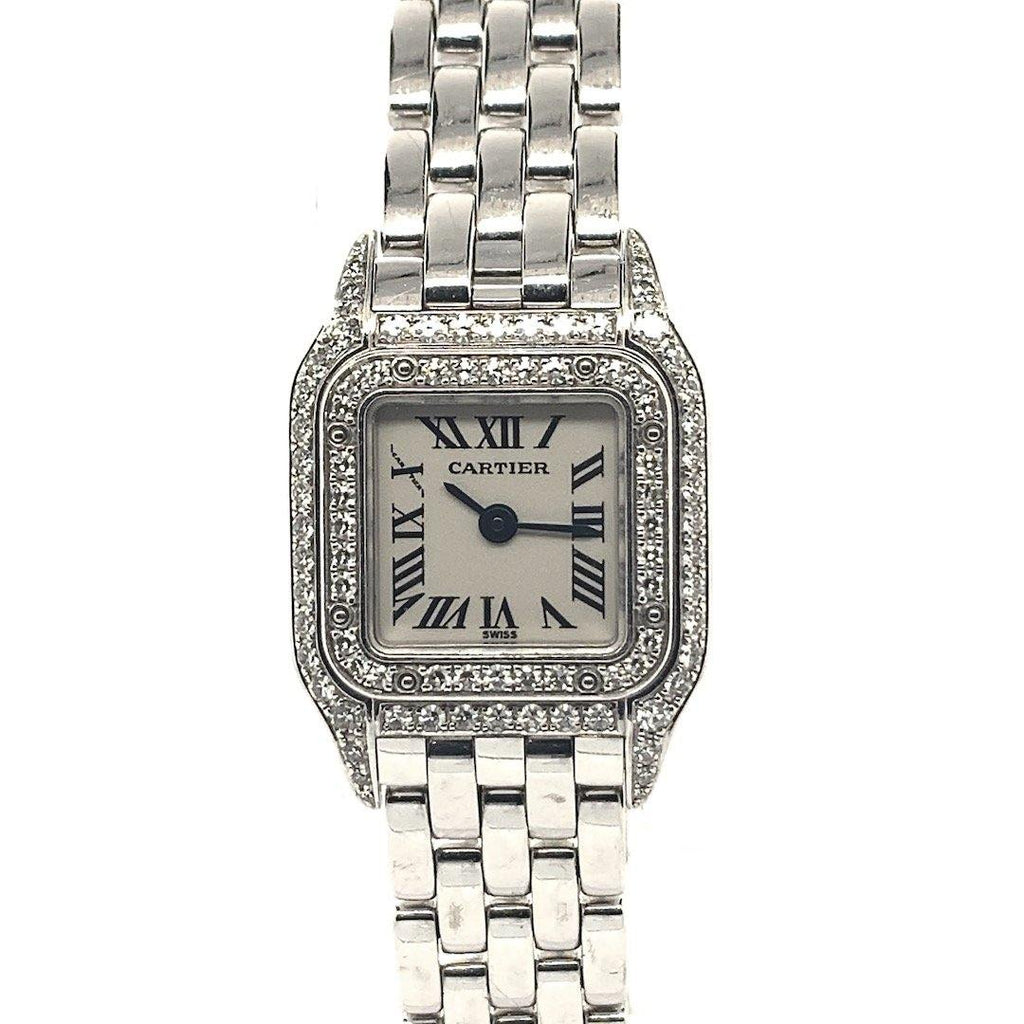 Cartier Panthère Mini 18K White Gold & Diamonds