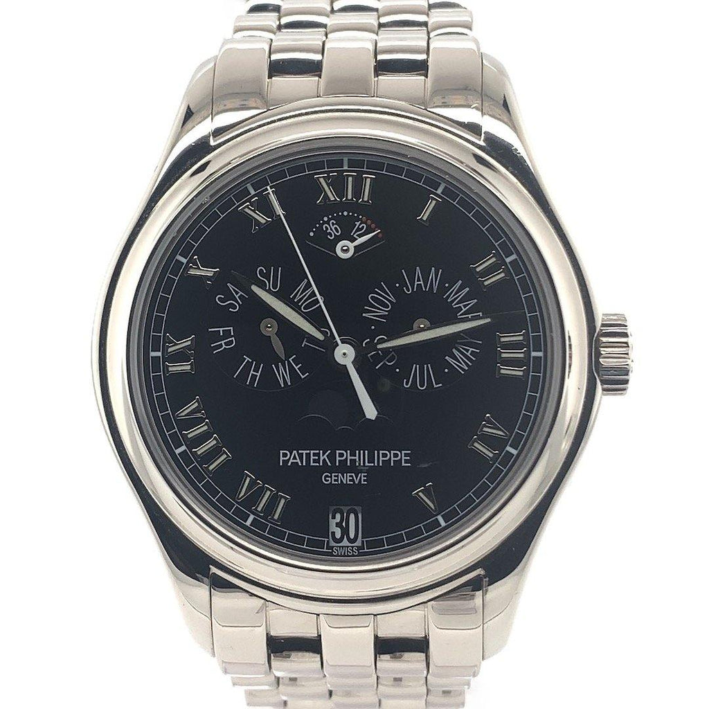 Patek Philippe Annual Calendar Moon Phase 18K White Gold Front ShotRef. 5036/1G Crown  Side Shot Showing