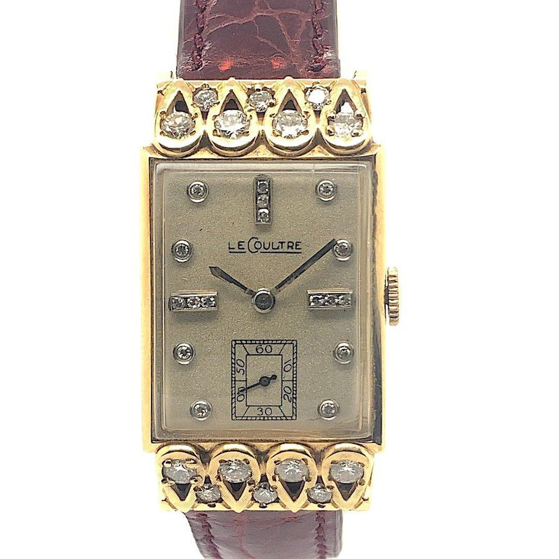 Vacheron Constantin - LeCoultre 18K Yellow Gold & Diamonds Art Deco Gents Vintage Watch 1940's