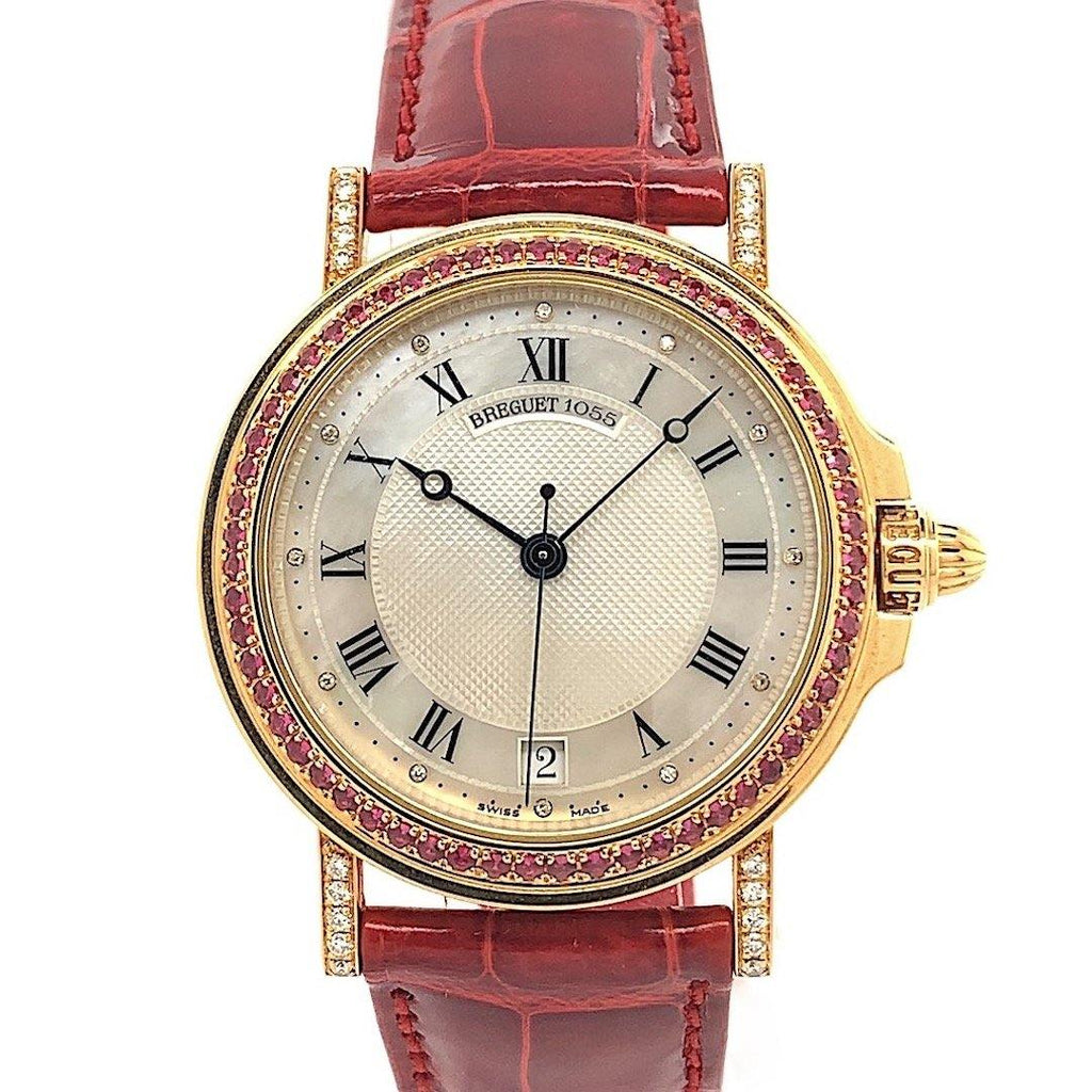 Bréguet Marine 18K Yellow Gold Set With Diamonds & Rubies