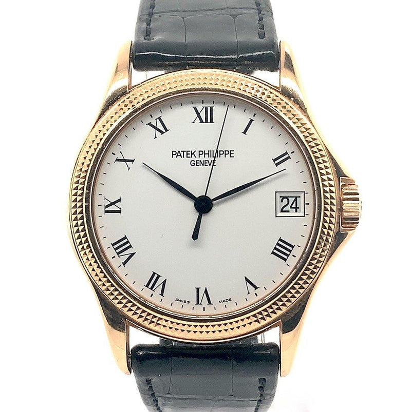 Previously Owned Patek Philippe Calatrava 18K Rose Gold Hobnail Bezel Ref. 5117R