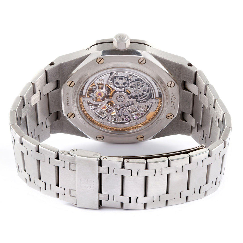 Audemars Piguet Royal Oak Skeleton Quantieme Perpetual Calendar Moonphase Platinum - Twain Time, Inc.
