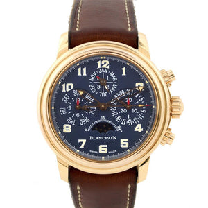 Blancpain Leman Perpetual Calendar Chronograph 18K Rose Gold Limited Edition - Twain Time, Inc.
