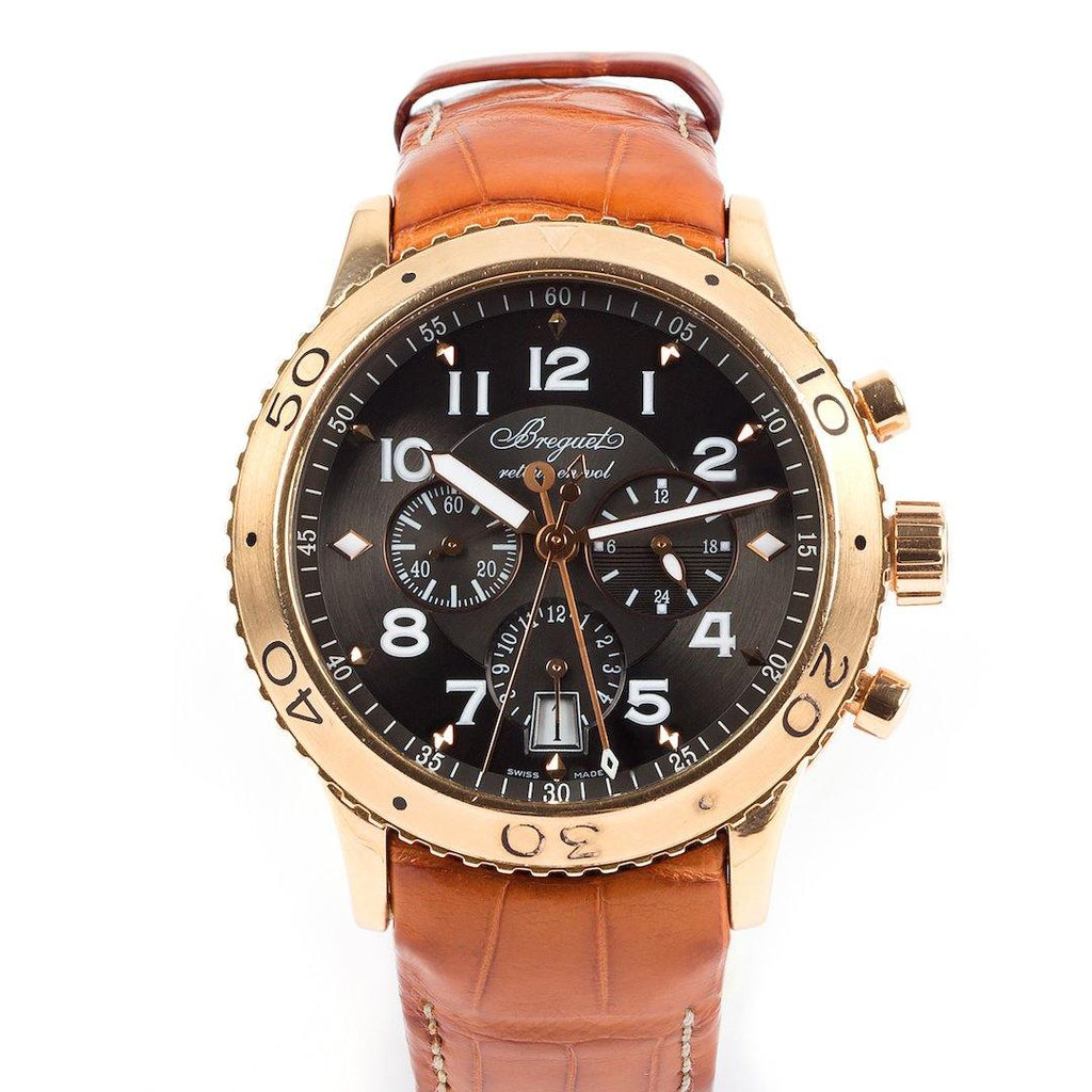 Bréguet Type XXI Transatlantique Flyback 18K Rose Gold - Twain Time, Inc.
