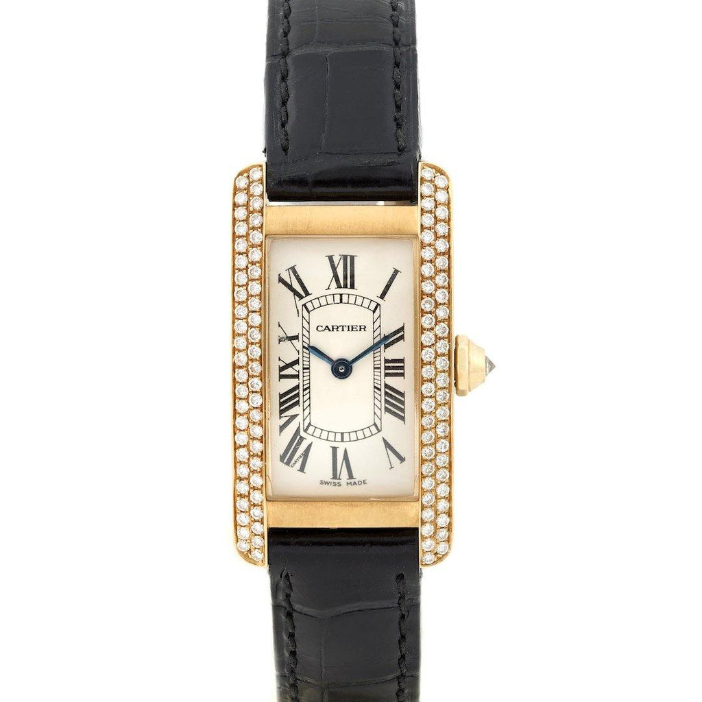 Cartier Tank Américaine Size 18K Yellow Gold and Diamonds - Twain Time, Inc.