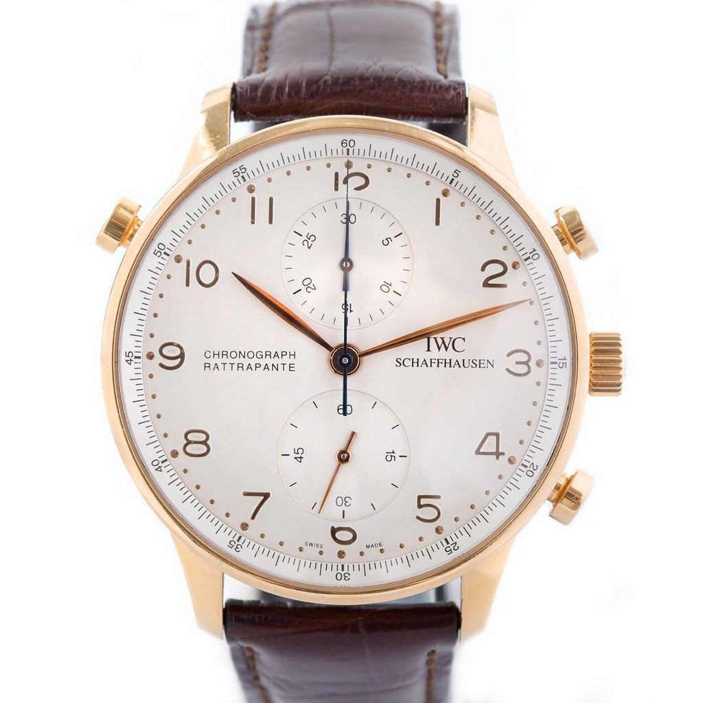 IWC Portugieser Chronograph Rattrapante Split-Second 18K Rose Gold - Twain Time, Inc.