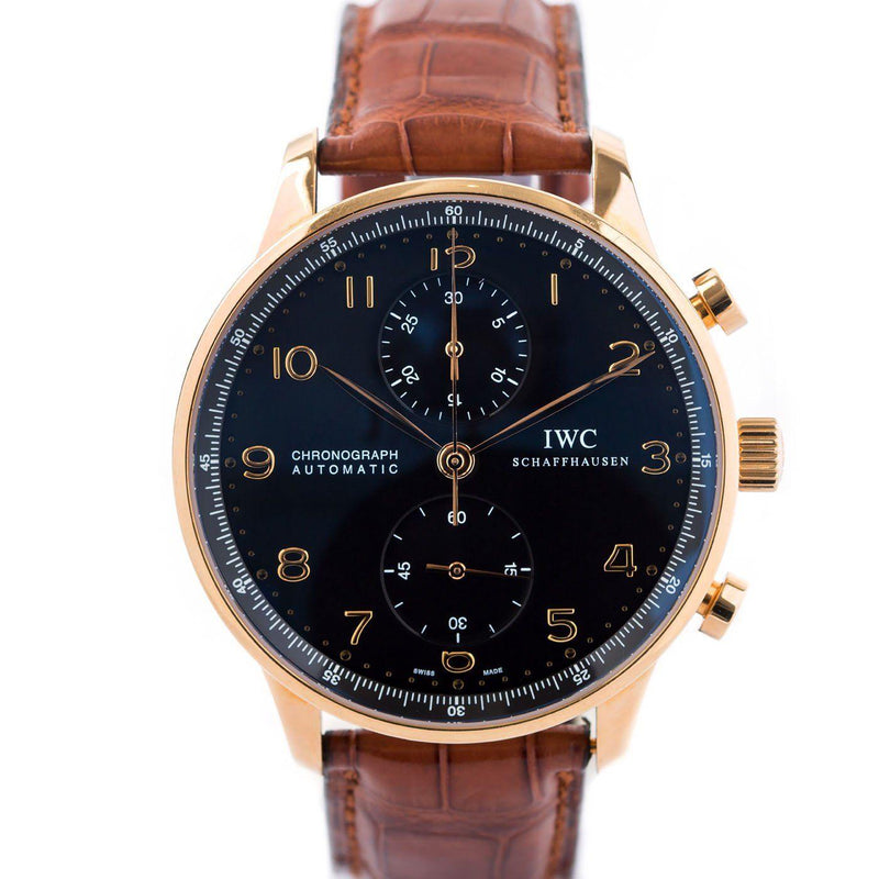 IWC Portugieser Chronograph 18K Rose Gold - Twain Time, Inc.