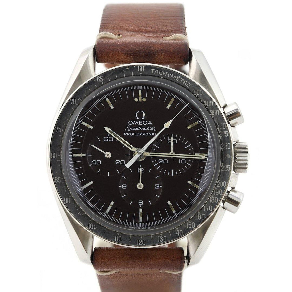 Omega Speedmaster Professional Tropical Dial Stainless Steel Vintage 1960's - Twain Time, Inc.