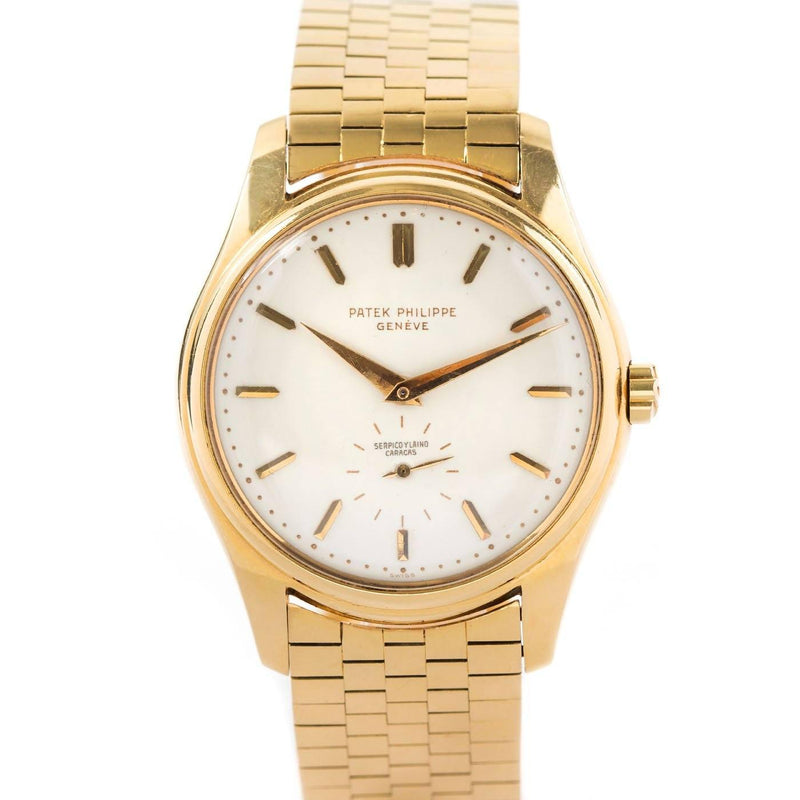 Patek Philippe Calatrava 18K Yellow Gold Ref. 2526J With  Serpico Y Laino Retailer's Mark - Twain Time, Inc.