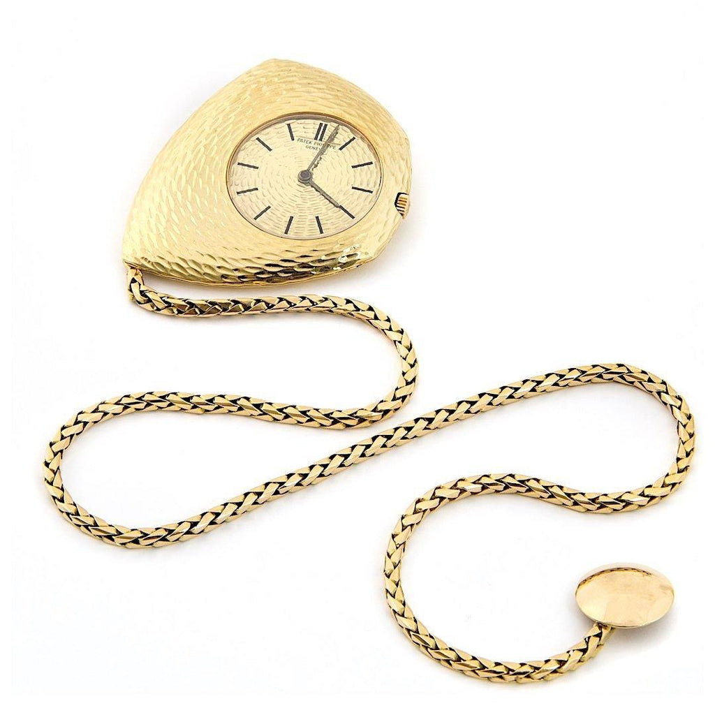 "Patek Philippe Asymmetric ""Ricochet"" 18K Yellow Gold Pocket Watch Designed by Gilbert Albert"