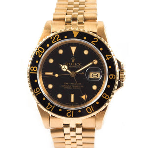 Rolex Vintage GMT Master - 18K Yellow Gold - Twain Time, Inc.