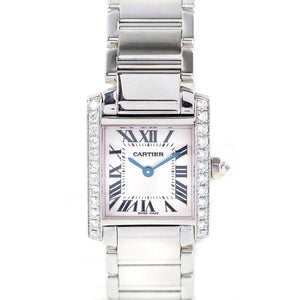 Cartier Tank Française 18K White Gold Diamond-Set - Twain Time, Inc.