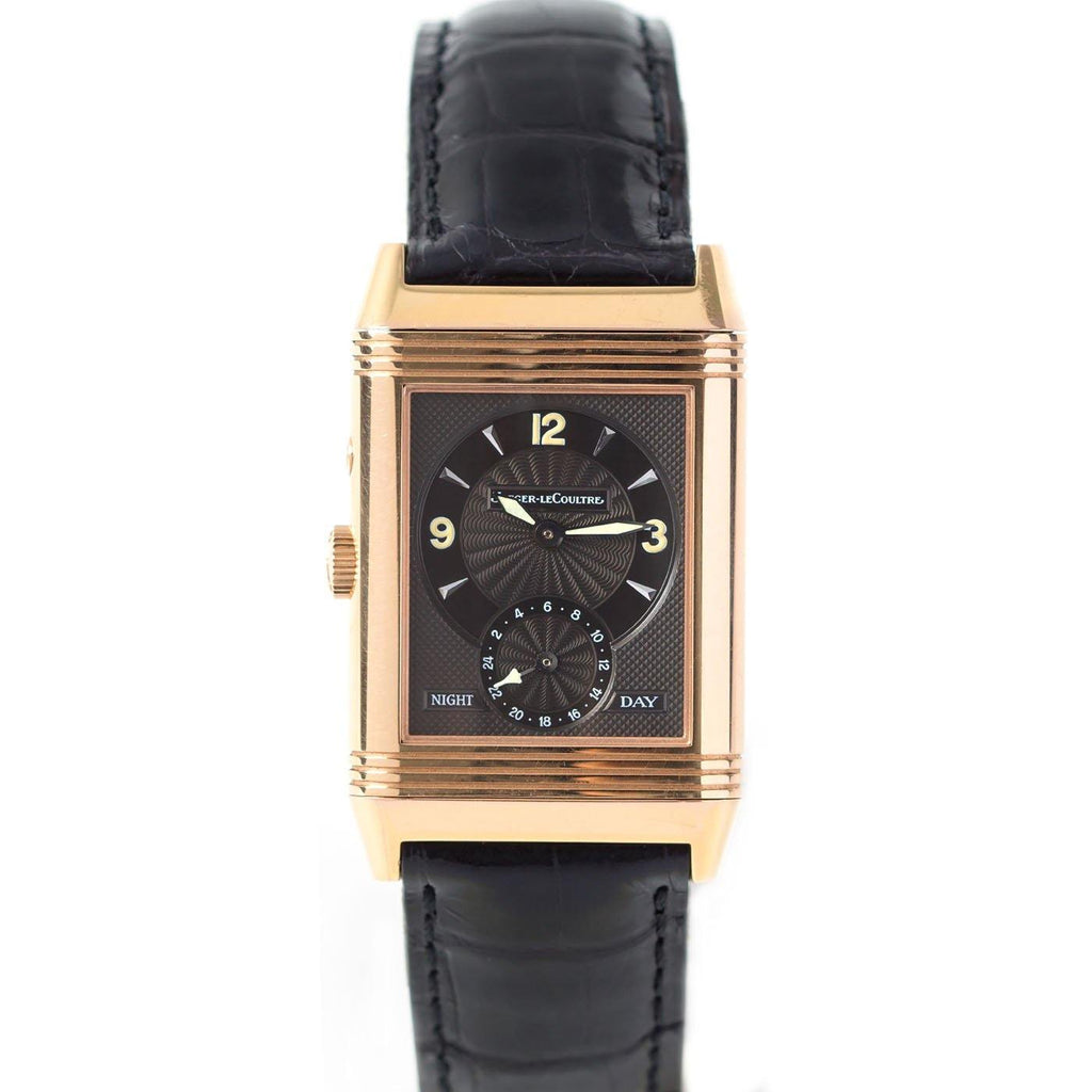 Jaeger-LeCoultre Reverso Duo Day and Night 18K Rose Gold - Twain Time, Inc.