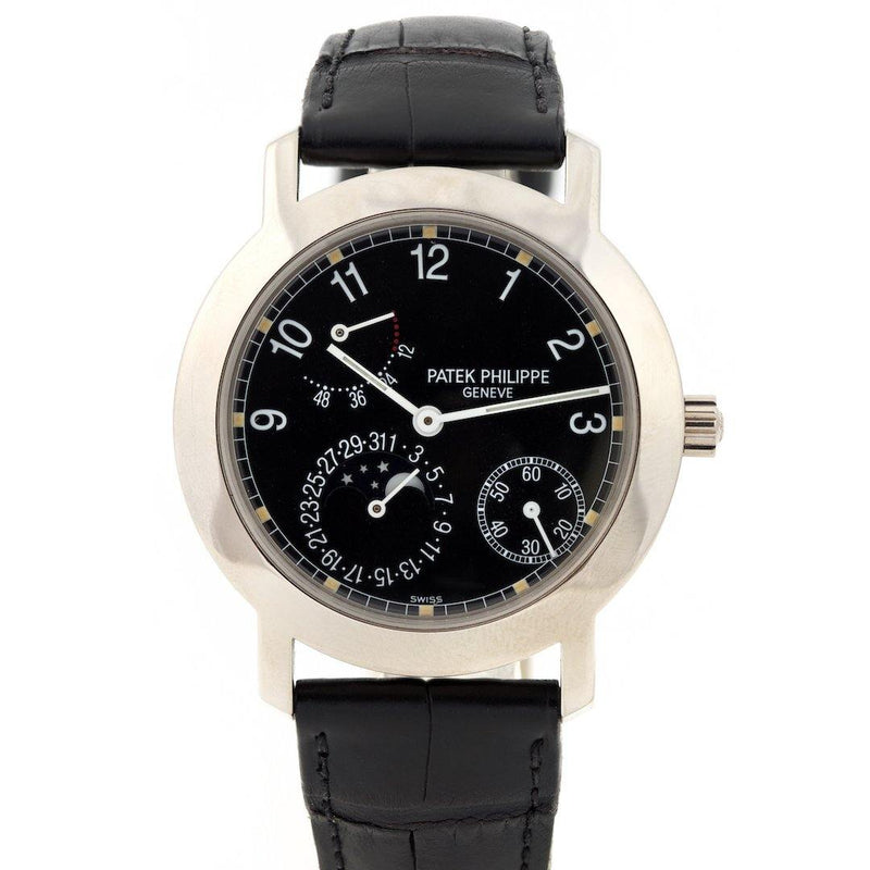 Patek Philippe Power Reserve Moon Phase 18K White Gold Ref. 5055G - Twain Time, Inc.