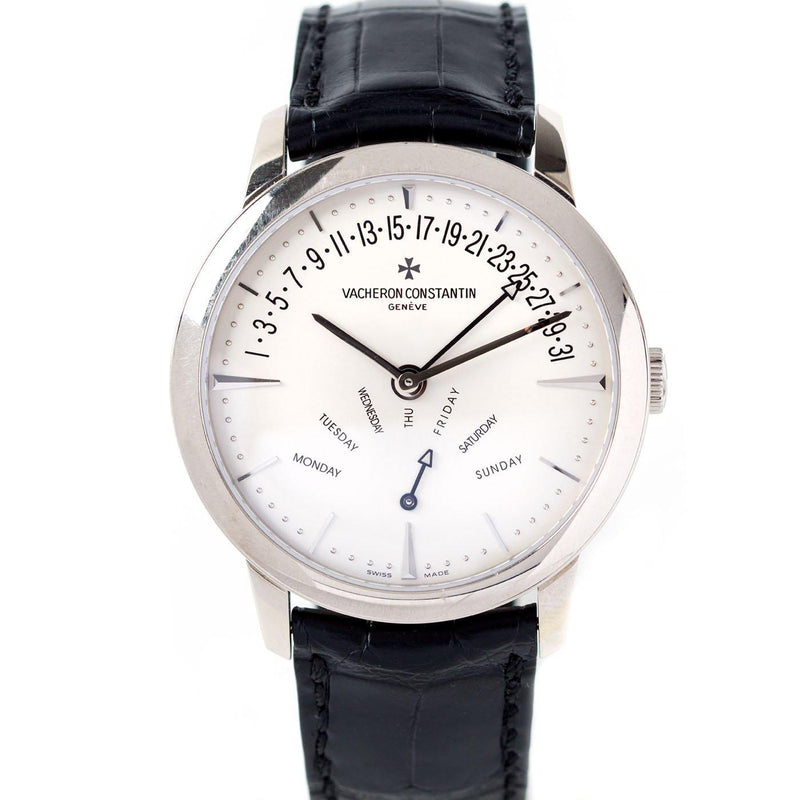 Vacheron Constantin Patrimony Retrograde Day Date 18K White Gold - Twain Time, Inc.