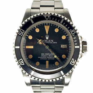 "Rolex Vintage Sea-Dweller Mark I ""Great White"" Dial Ref. 1665 Stainless Steel 1979"