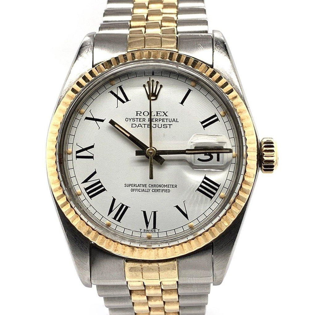 Rolex Datejust Two Tone Jubilee Bracelet White Buckley Dial Ref. 16030