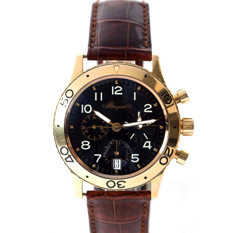 Bréguet Type XX Transatlantique 18K Yellow Gold - Twain Time, Inc.