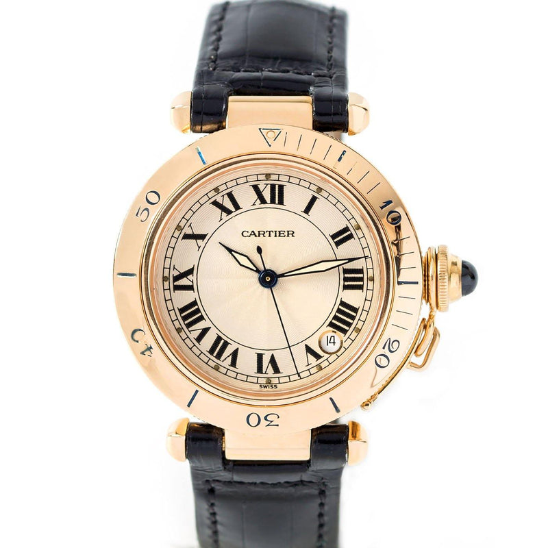 Cartier Pasha Medium Size 18K Yellow Gold - Twain Time, Inc.