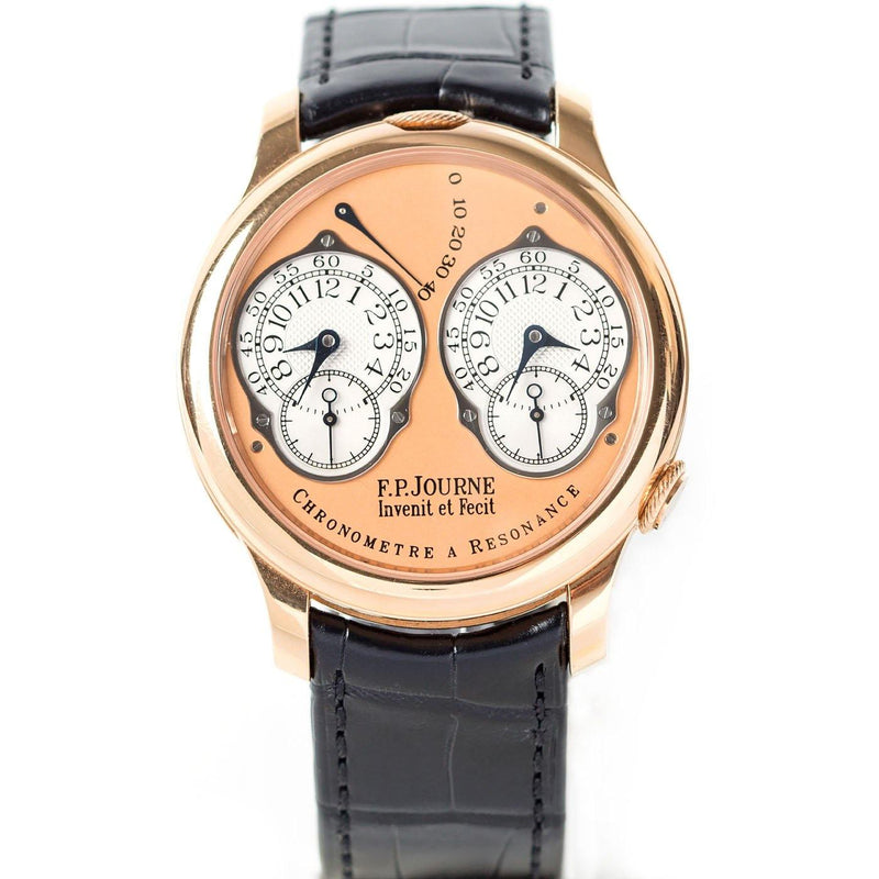 F.P Journe Chronomètre à Résonance Dual Time 18K Rose Gold - Twain Time, Inc.