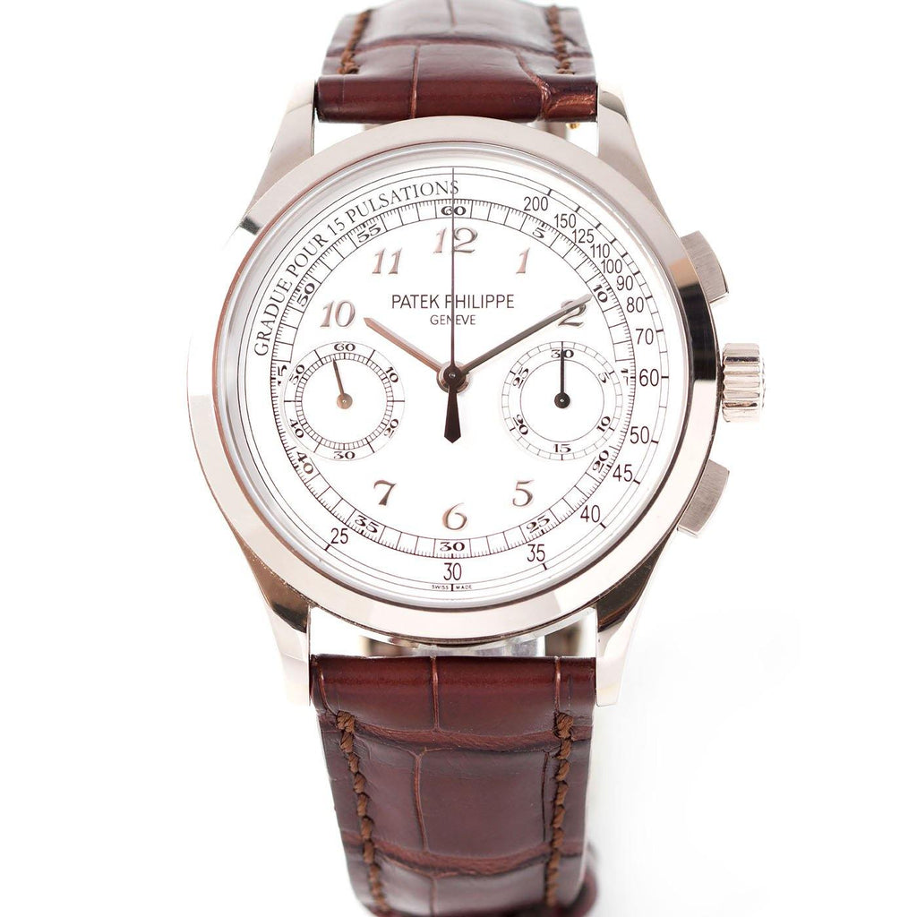 Patek Philippe Complication Chronograph 18K White Gold Ref. 5170G-001 - Twain Time, Inc.