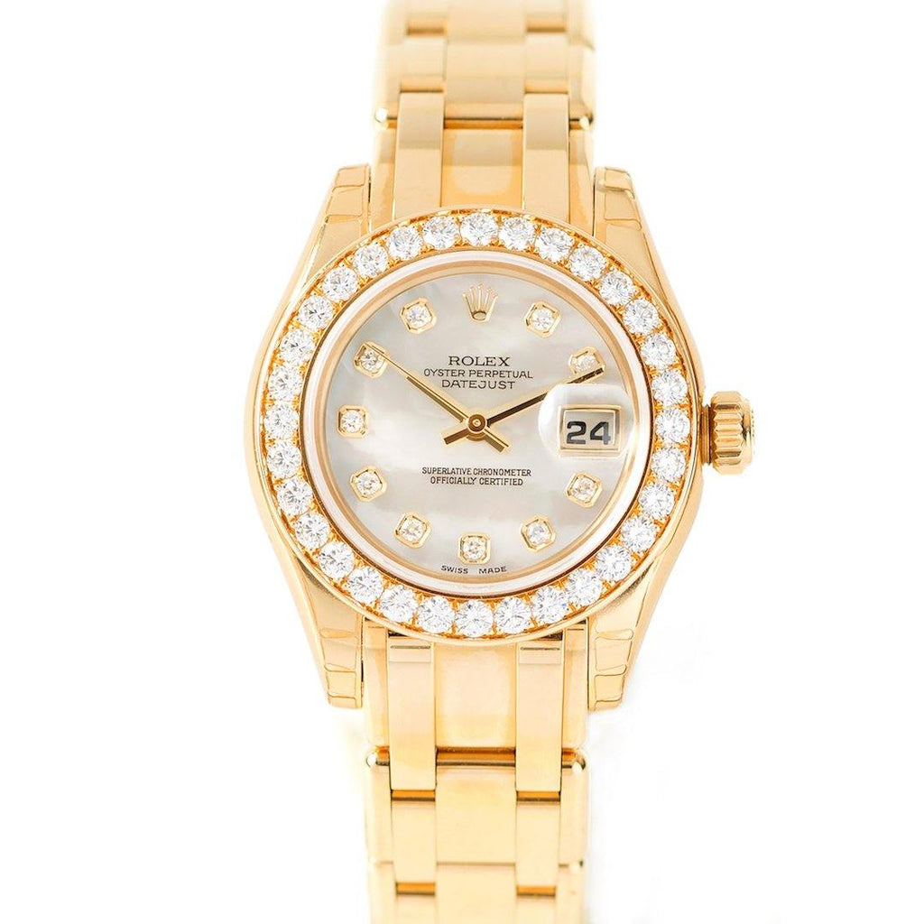Rolex Masterpiece Datejust Pearlmaster 18K Yellow Gold & Diamonds - Twain Time, Inc.