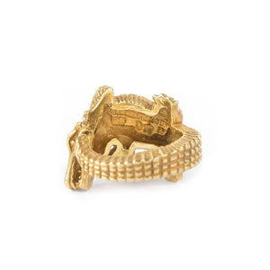 Barry Keiselstein-Cord Alligator Ring 18K Yellow Gold - Twain Time, Inc.