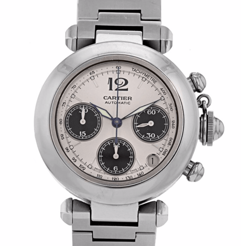 Cartier Pasha C Chronograph Stainless Steel - Twain Time, Inc.