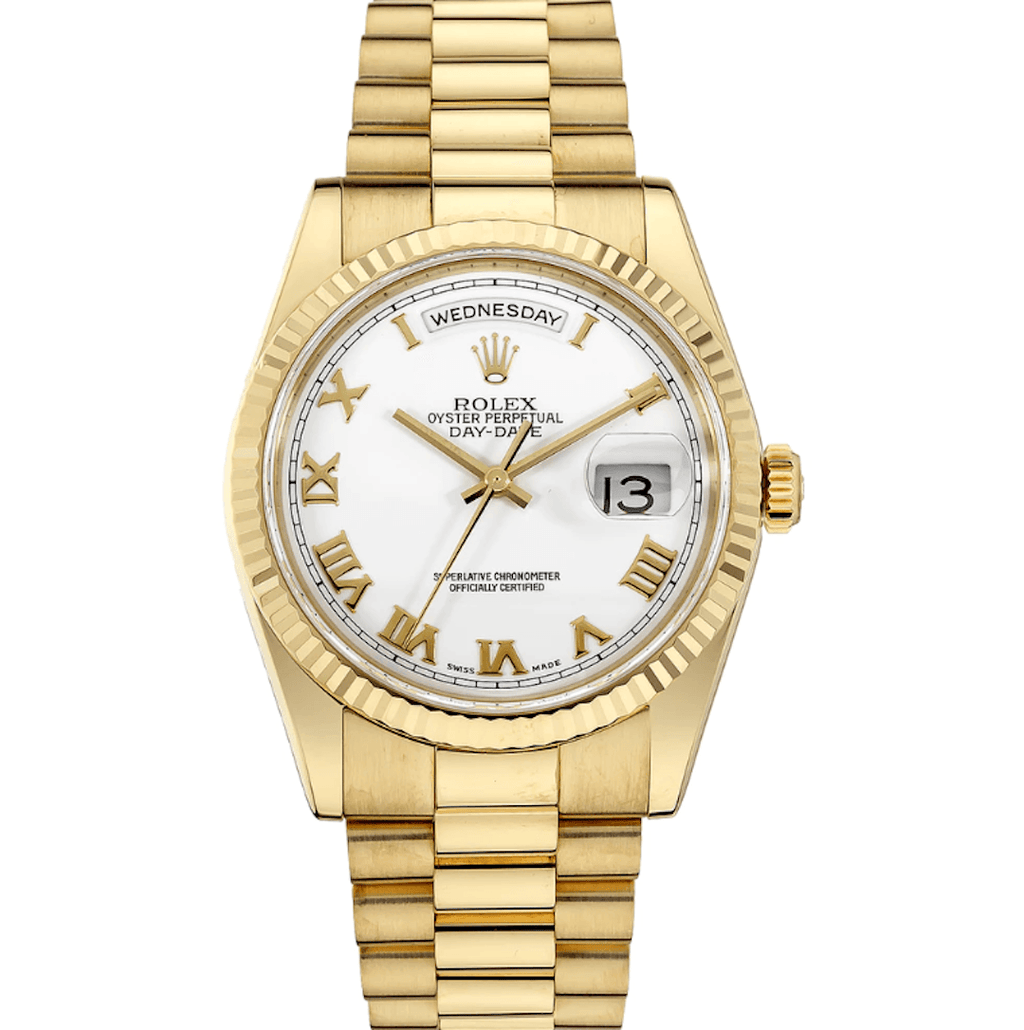 Rolex Day-Date President White Dial 18K Yellow Gold Ref. 118283 - Twain Time, Inc.