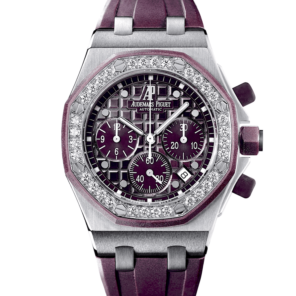 Audemars Piguet Royal Oak Offshore Chronograph Pl Stainless Steel Diamond-Set Bezel - Twain Time, Inc.