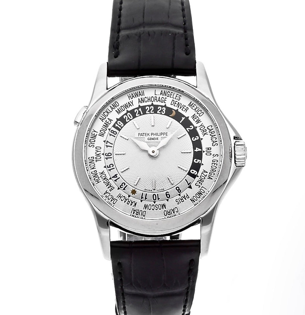 Patek Philippe World Time 18K White Gold Ref. 5110G-001 - Twain Time, Inc.