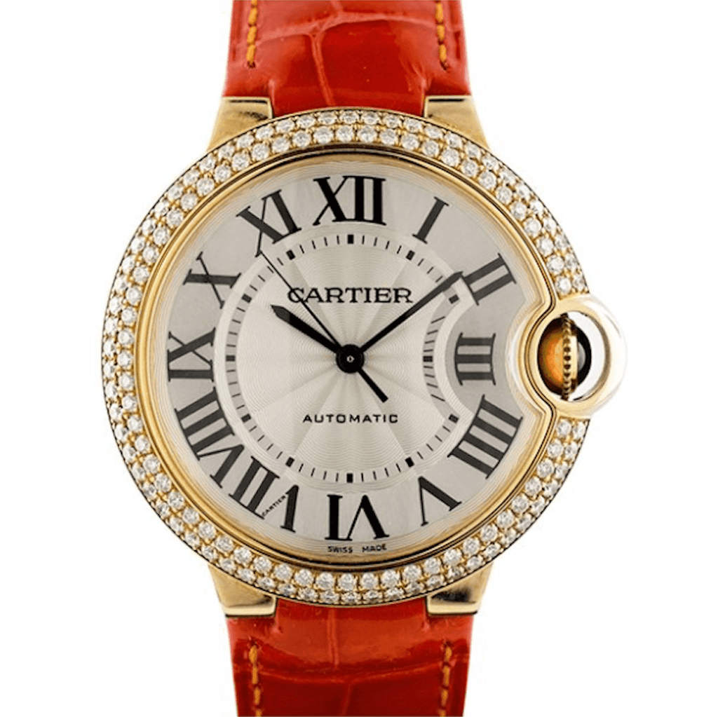 Cartier Ballon Bleu De Cartier 18K Yellow Gold & Diamonds Midsize - Twain Time, Inc.