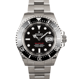 Rolex Sea-Dweller Ceramic Red Letter Dial Stainless Steel Ref. 126600 - Twain Time, Inc.
