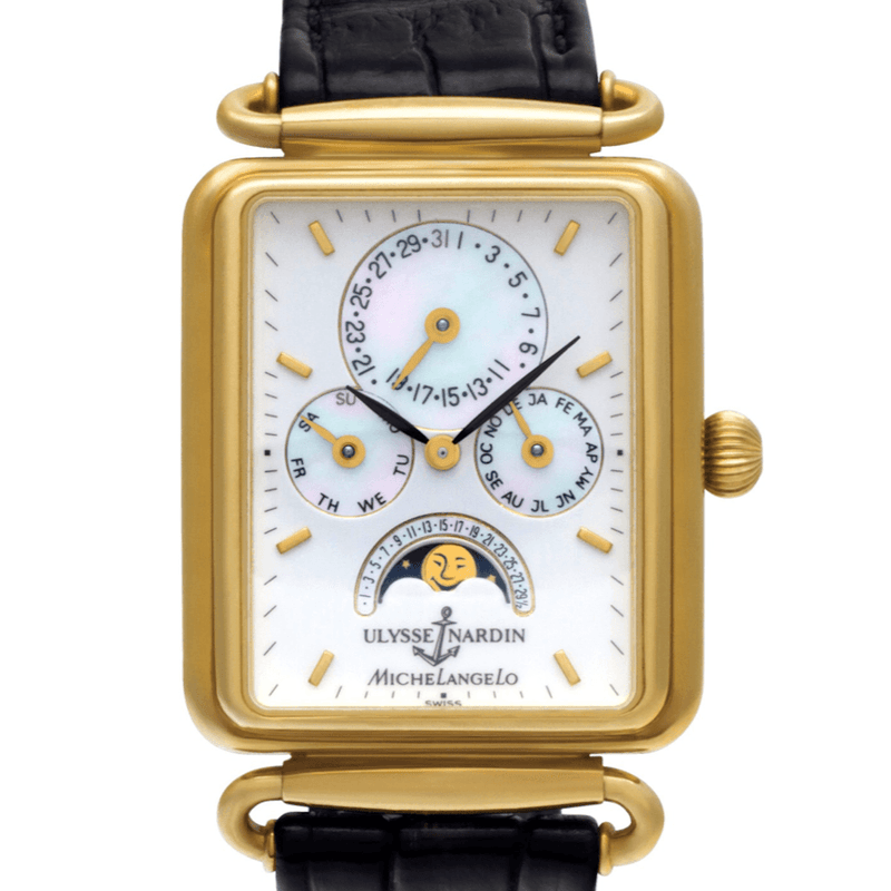 Ulysse Nardin Michelangelo Triple Calendar Moon Phase 18K Yellow Gold - Twain Time, Inc.