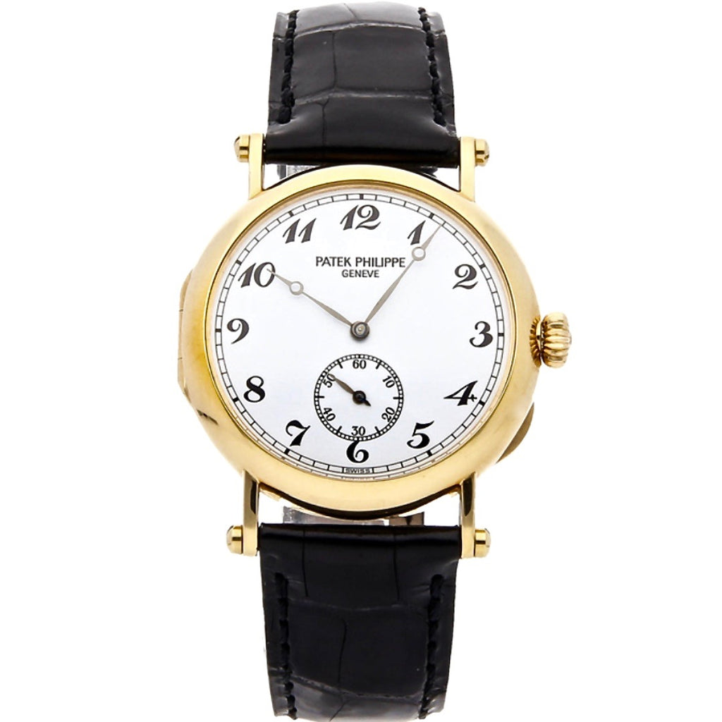 Patek Philippe Calatrava Officer's Watch 150th Anniversary 18K Yellow Gold Ref. 3960J