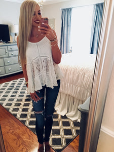 Tiered Lace Babydoll Top