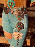 The Thunderbird Concho Belt